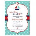 Sailboat Baby Shower Invita..