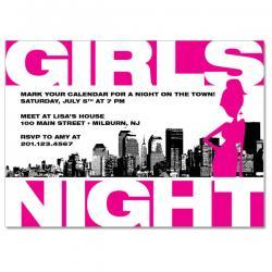 Girls Night Out Custom Invitation
