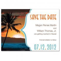 Tropical Destination Custom Save the Date