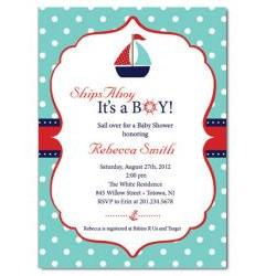 Sailboat Baby Shower Invitation
